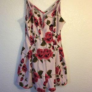 Charlotte Russe Pink Floral Romper